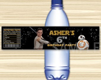 Star Wars Bottle Label. Star Wars Water Label. Diy Star Wars Birthday Party. Star Wars Birthday Party. Star Wars Wrap. DIGITAL FILE.