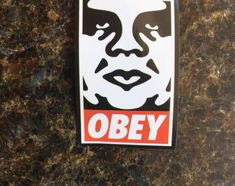 Obey Laptop Sticker