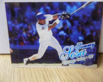 Baseball card of Sammy Sosa from 1998 Great Condition