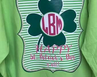 St Patrick's Day Monogram Shirt