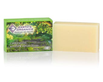 Cedarwood, Amyris, and Vetiver Soap   Homemade, Organic, All-Natural, Chemical & Preservative-Free Bath Soap