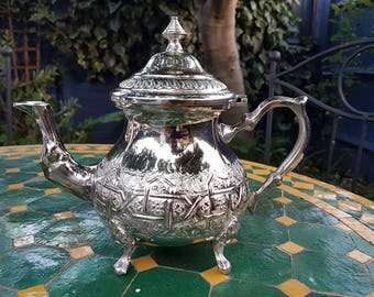 Moroccan silver-plated teapot
