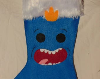 Rick&Morty Mr. Meeseeks Christmas Stocking