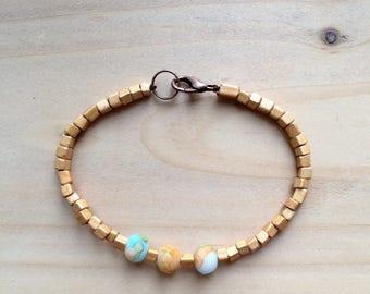 """JEWELRY - """"Globe Trotter"""" Bracelet / Beaded Bracelet / Band / Bracelet en perles"""