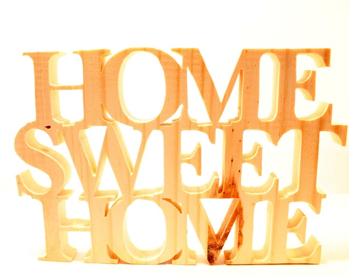 Home sweet home personalized wooden