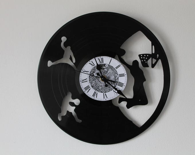 Vinyl 33 clock towers basketball theme