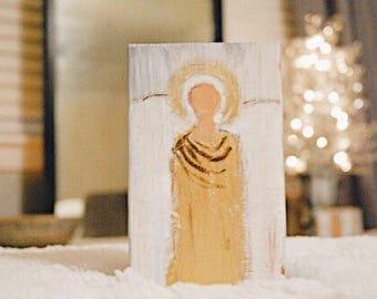 "faceless angels/ Angel Painting/ Angel Artwork/ 4x6""/ Christian art /French Farmhouse Decor/ Art"