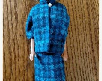 On sale Vintage Blue Suit for Barbie - Barbie Clothes