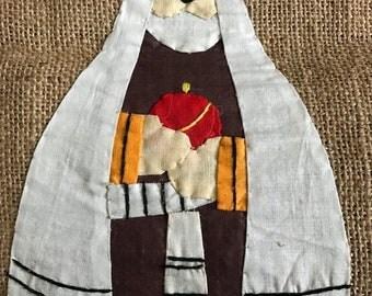 SPRINGSALE Handstitched stocking on Burlap