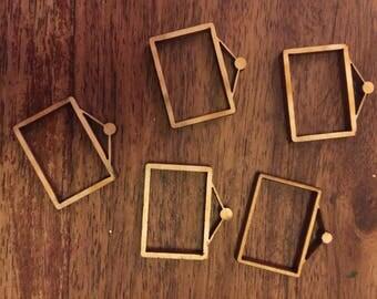 10 x Wooden Mini Wooden Picture Frame EMBELLISHMENT Craft Scrapbook Art sd206