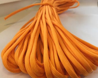 Paracord orange, sold by the meter