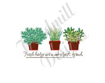 Fresh Herbs - Machine Embroidery Design
