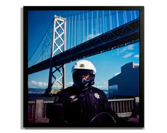 "Fine Art Photography ""Officer Lewis"" Framed Stretched Canvas"