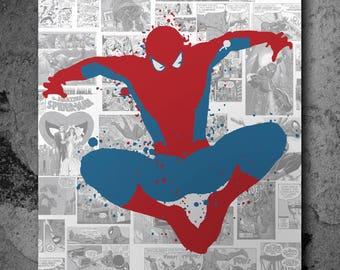 Custom Spiderman Spray painting!