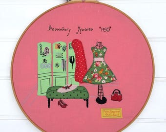 Bloomsbury Squares 1950 pdf Embroidery Pattern