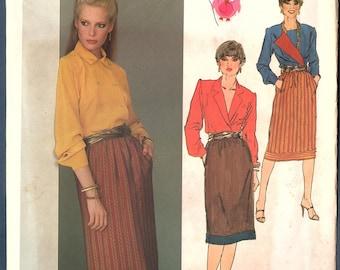 Vogue 2557 Misses Tapered Pants, Straight Skirt, Vintage 70s Sewing Pattern, Vogue American Designer Calvin Klein Size 14