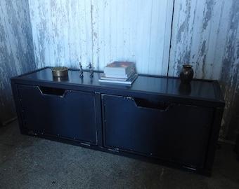 meuble de tv de style industriel en acier et bois