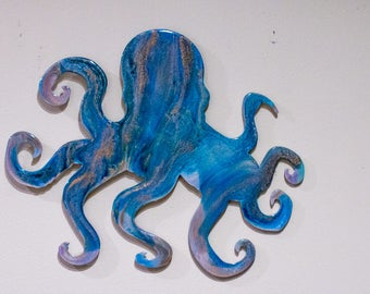 Abstract Resin Wooden Octopus