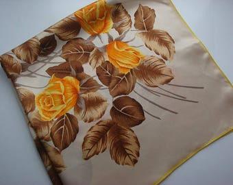 Orange Rose Vintage Ladies Scarf