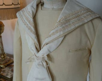 1920s LA CIGALE Sailor Jacket, antique children's clothing, dress, Matrosenanzug