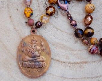 Ganesh Beaded Boho Necklace