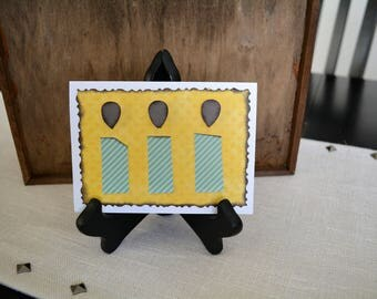 Happy Birthday, Unisex Birthday card, Birthday cards, Homemade Birthday cards, Birthday candles