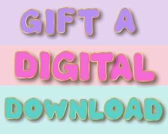 Gift a Digital Download Add-on (INSTANT DOWNLOAD): Self Care • Radical Self Love • Spoonie • Mental Health Habit Tracker