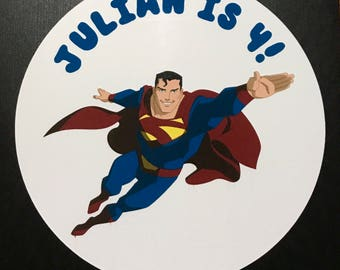 Precut Edible Superman Images to decorate your cupcakes, cookies or cake with.