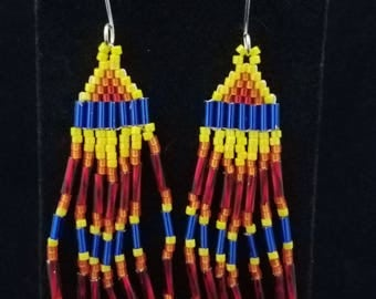 Handmade Native American Style Beaded Earrings