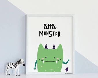 boys wall decor, Studio M, Illustration monster,Kids room decor, Nursery print, Nursery wall decor, Monster kids illustration,Funny monsters