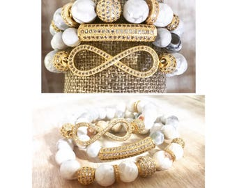 White Infinity Stack