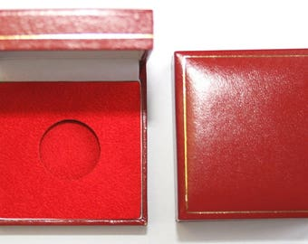 Red Padded Coin Cases To Hold a Single Capsuled Half Sovereign