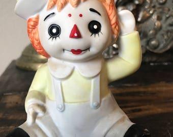 Vintage raggedy Andy figurine