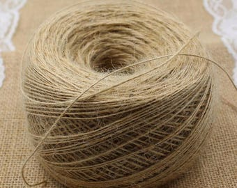 400m 100% Natural Jute Twine Cord 1mm