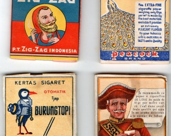4 Old and rare full packets cigarette rolling papers.