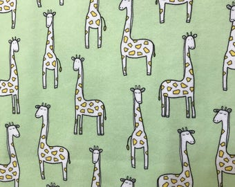 Giraffe hemstitched baby blanket
