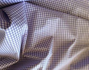 Cotton poplin, lilac 4mm check weave