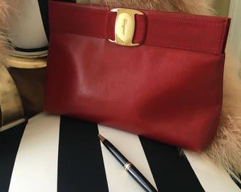 Vintage Salvatore Ferragamo clutch bag