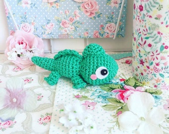 Pascal le caméléon de Raiponce en peluche poupée amigurumi crochet