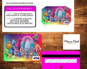 Custom Credit Card Invitations ( Digital PDF)