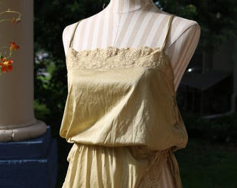 80s Gold Lace Teddy