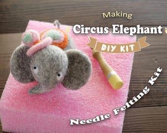 Circus Elephant - Needle Felting Kit