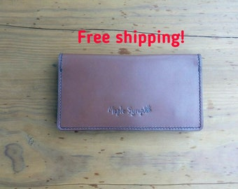Leather wallet Maple Syrup