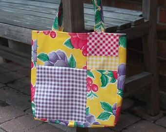 Medium Oilcloth Tote Bag