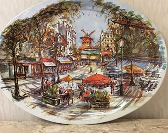 Daher Decorated Ware large Serving tray. 1971. Made in England. Used.