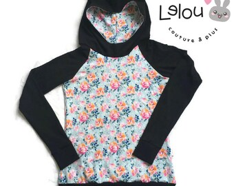 Hoodie, women hoodie, hoodie flowers, mom and baby hoodie