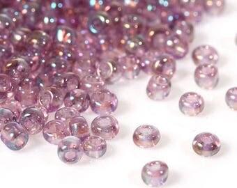 Purple seed beads - 2 mm - 15 g