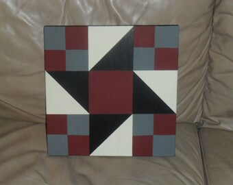 Small Hand Painted Saw Blade Barn Quilt