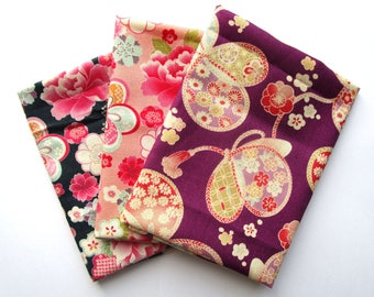 Set of 3 coupons 45 x 35 cm - kimono flowers