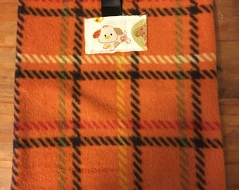Small Pet Pouch - Puppy Plaid
